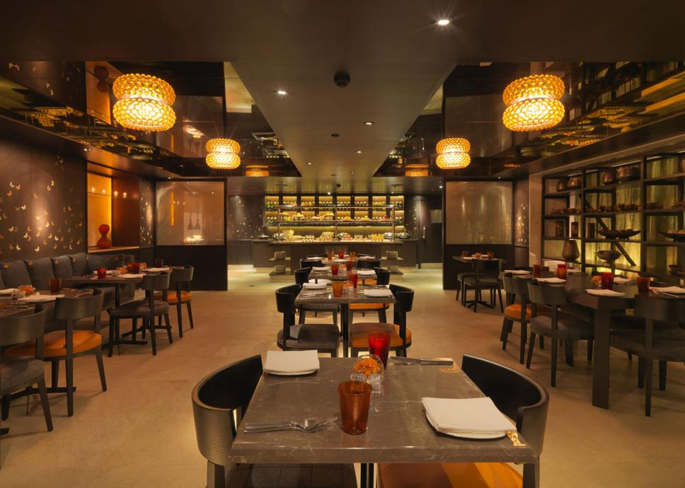 Monsoon restaurant project orange for Indian restaurant interior design ideas