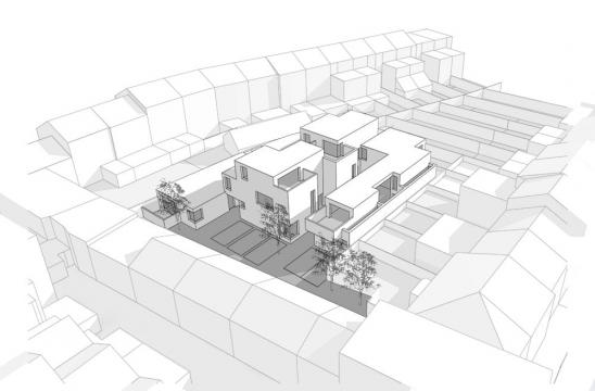 Architectural massing study found site